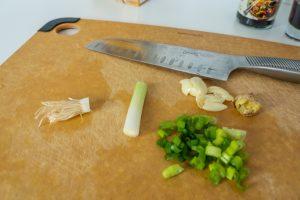 Keto Ramen crushed Ingredients