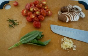 Keto Sardine Pasta Ingredients prepped