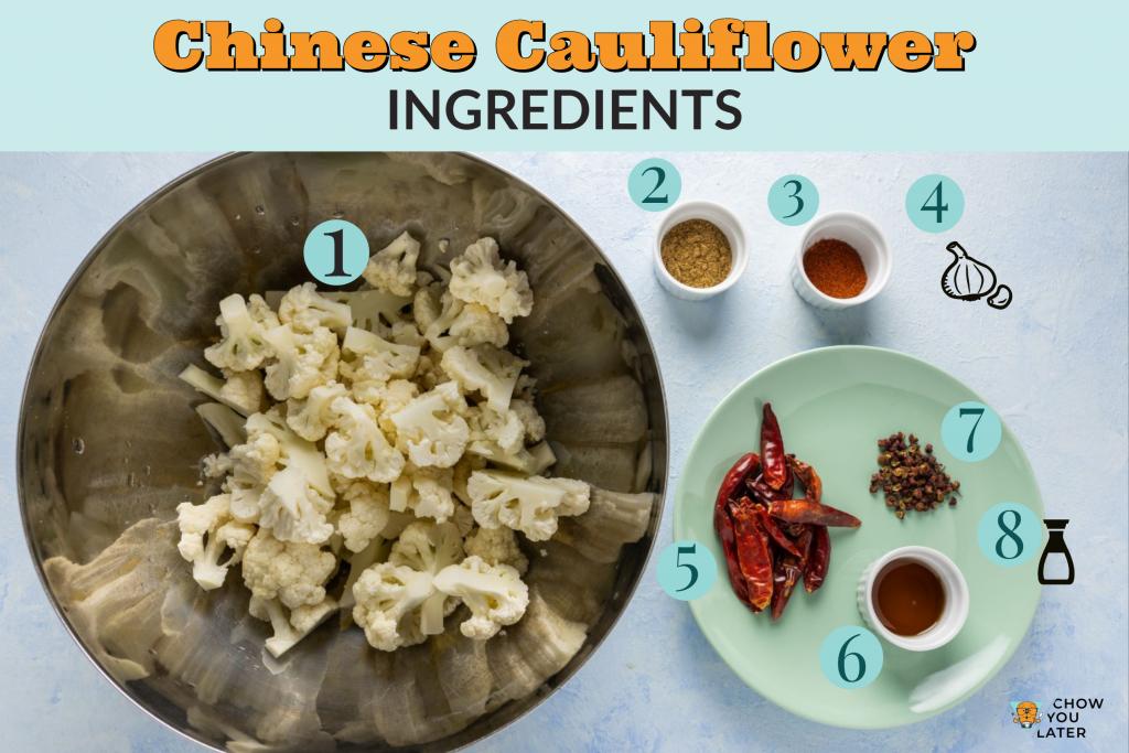 Spicy Roasted Cauliflower ingredients
