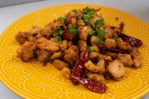 Keto General Tso's Chicken completed